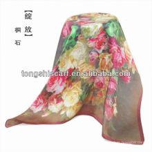 SC359-011 мода цифровой печать шелковый шарф
