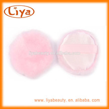OEM pink baby puff in round cosmetic makeup plush puff
