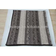 lit de tricot carré en cachemire pur jette des couvertures