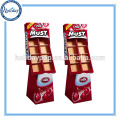 Supermarket Cardboard Hook Display For Toy , Carton Standing Display Shelf Display