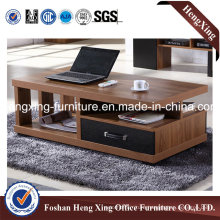 Walnut Living Room Furniture Wooden Coffee Tea Table (HX-6M292)
