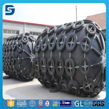 Pára-choque pneumático de borracha com corrente galvanizada e pneu
