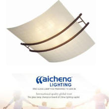 Modern glass ceiling lamp with CE for hotel and home