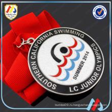 Серебряная медаль для плавания