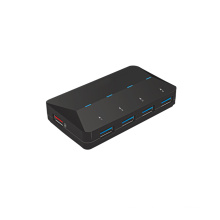480Mbps USB 3.0 4-port Hub, 1 Extra Port, 2.4A Fast Charger, CE, FCC