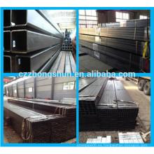 MS Carbón de acero negro Tubo cuadrado / Galvanizado / Pre galvanizado Tubo cuadrado