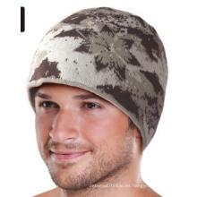 Camuflaje / Camo Knit Crochet Beanie Jacquard Hat / Cap (k-36)