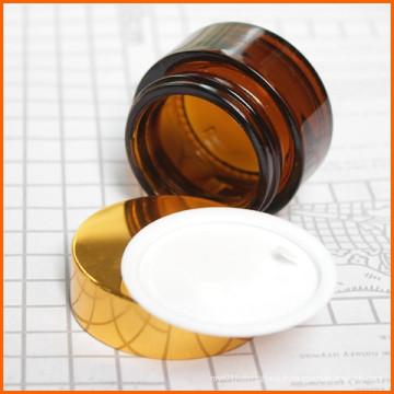 Bouteille de cosmétiques Amber Glass en gros