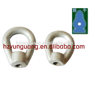 heart-shaped ring shackle/guy wire overhead lines fitting/cable clamp