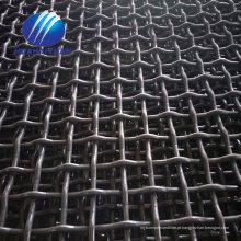 Venda quente para a malha de pedreira de aço Mina 65Mn malha de tela de vibração de aço carbono crimpado triturador de malha