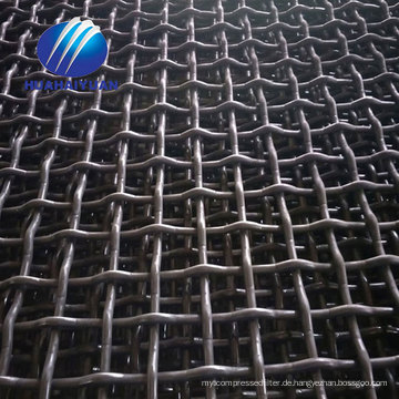Heißer Verkauf für stahl steinbruch mesh Mine 65Mn vibrierenden bildschirm mesh carbon stahl gekräuselte brecher masche