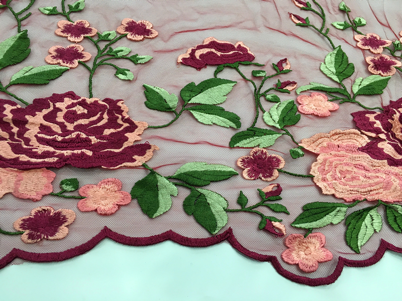 Inflorescence Embroidery Lace Fabric