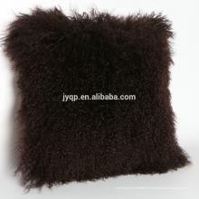 New Collection Mystérieux mongol bouclés mouton peau fourrure coussin
