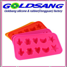 Heart Flower Shape Moon and Star Shape Silicone Ice Tray