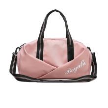 Dry wet separation gym sports yoga shoulder bag men women travel weekender tote bag with shoe bag