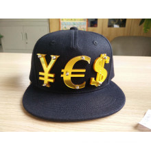 OEM Casquillo de lujo de Hip-Hop de la manera de los jóvenes con el remiendo (ACEK0036)