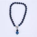 Collier rond naturel de perles d'agate
