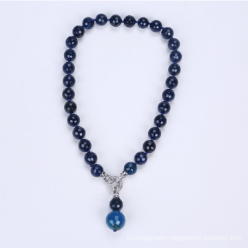 Natural Round Slice Agate Beads Necklace