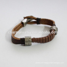 fashion Leather bracelet single circle bracelet like snake tail bracelet PSL021