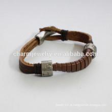 Moda pulseira de couro pulseira círculo único como bracelete de cauda de cobra PSL021