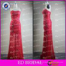 ED Bridal Elegant Sparkle Red Sheath Sweetheart Neckline Beads Alibaba Evening Dress 2017
