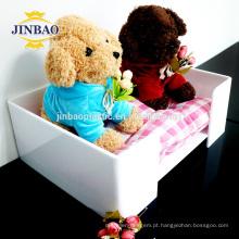 Jinbao personalizar tamanho plexiglass relógio brinquedo bola acrílico display 10x10 cm