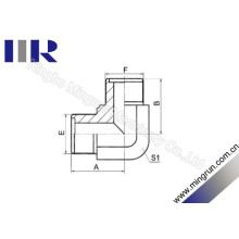 90 degrés coudé mâle métrique adaptateur torique hydraulique adaptateur (1E9)