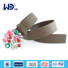Buckle With Color Stones Ceinture Vintage Pu