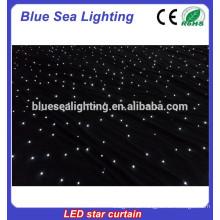 2 * 3m (H / L) Farbe DMX Bühneneffekt LED Sternvorhang