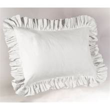 Ruffled edge pillow sham T200 Cotton
