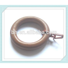 50mm Wooden Curtain Ring With Curtain Clips