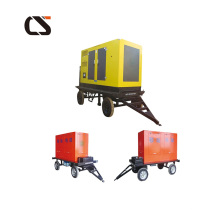 Generador diesel de la estación de energía móvil de cuatro ruedas