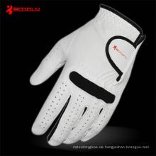 Weißer Leder Golfhandschuh