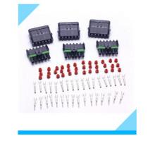 Connecteur électrique automatique imperméable de câble de fil de manière de 6 bornes