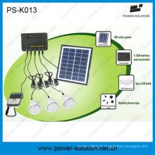 Jogo solar dos bulbos do diodo emissor de luz do painel 3WS 1W SMD 4W solar com função do carregador do telefone