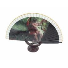Cheap ventilador manual dobrável mão de bambu