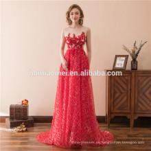 2018 alta calidad Custom Ladies Sirena Fantasía patrones de encaje vestido de noche
