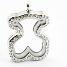 Hot Sale Stainless Steel Bear Locket Pendant