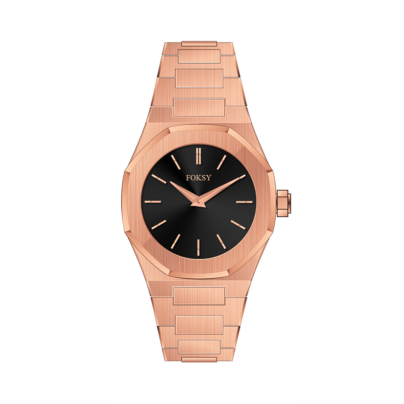 rose gold solid band hot sell watch 2018