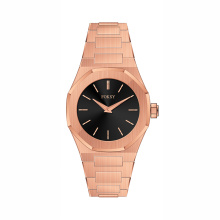 New hot trendy solid stainless steel thin watch