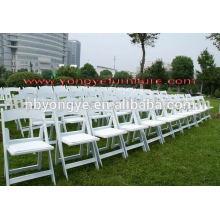 PP marco de resina padd blanco sillas de la boda