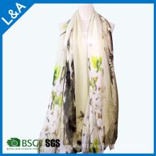 Elegant Lady Jiangnan Water Printing Design Scarf