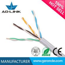 El mejor precio utp 24awg 305m gato 5 cable de cobre sólido