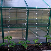 Power Coated Estacas en espiral de planta de tomate de 7Mm
