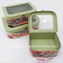 Cajas de regalo de almacenamiento portátil de papel de la maleta de almacenamiento
