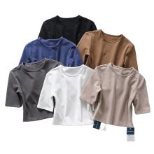 Camisetas esportivas justas Yogo Crop Tops femininas