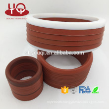 Mechanical PTFE +Fibre cloth v ring with high performance FKM Viton v type combined seal ring/v seal