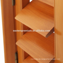 High Quality Custom Red Cedar Wooden Adjustable Louver Window Shutters
