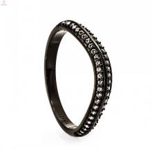 Conjunto nupcial da jóia bonita de cobre preta do casamento para mulheres