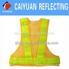 Gilet de sécurité réfléchissant pour l'AVERTISSEMENT CY maille ruban tissu en PVC cristal réfléchissant